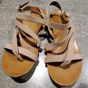 Kelly and katie tan sandals size 8